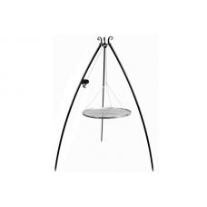 Trojnožka s kladkou 200 cm s roštem 70 cm nerez ocel