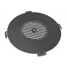 Grilovací kruh k ohništi s madly a roštem 100cm